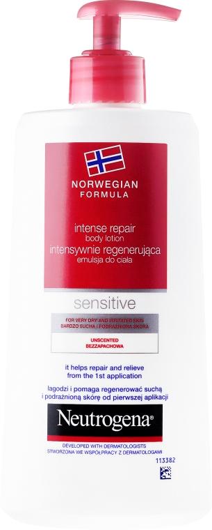 Intensywnie regenerująca emulsja do ciała do skóry wrażliwej - Neutrogena Norwegian Formula Intense Repair Body Lotion