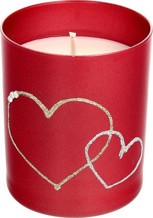 PRZECENA! Czerwona świeca dekoracyjna, 8 x 9,5 cm - Artman Forever Glass * — фото N1