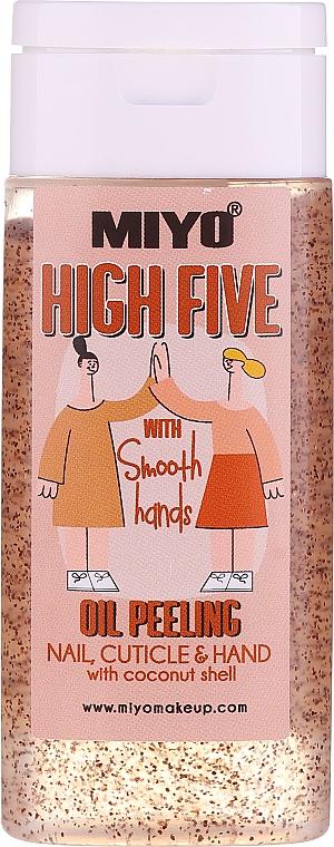 Peeling do rąk i paznokci z olejem kokosowym - Miyo High Five Oil Peeling — фото N1