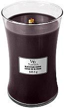 Kup Świeca zapachowa w szkle - WoodWick Hourglass Candle Black Plum Cognac