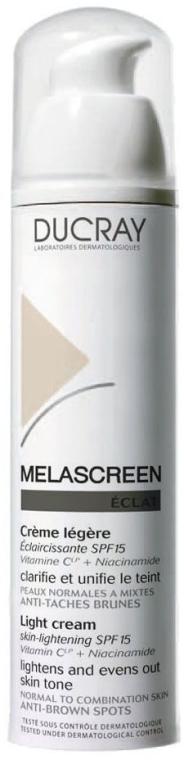Lekki krem rozjaśniający skórę (SPF 15) - Ducray Melascreen Eclat Lightening Light Cream SPF15 — фото N1