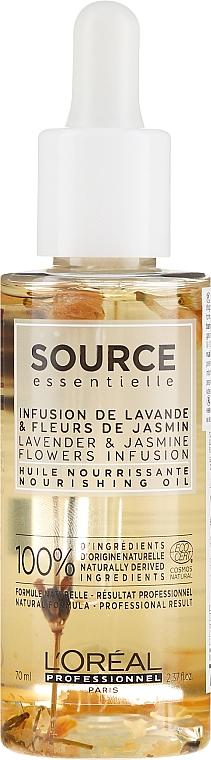 Olejek do włosów suchych - L'Oreal Professionnel Source Essentielle Nourishing Oil — фото N1