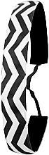 Kup Opaska do włosów, czarno-biała - IvyBands Chevron Black White Hair Band