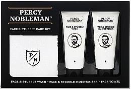 Kup PRZECENA! Zestaw dla mężczyzn - Percy Nobleman Face & Stubble Care Kit (cr 75 ml + wash 75 ml + towel) *