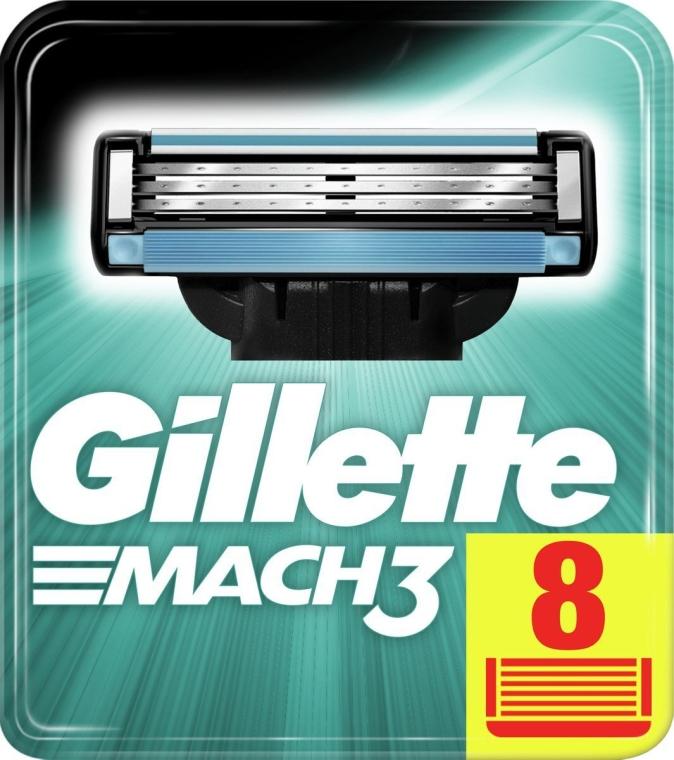 Wymienne wkłady do maszynki, 8 szt. - Gillette Mach3 — фото N4