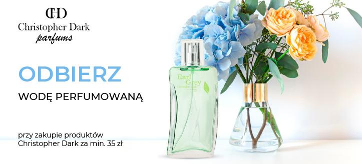 Przy zakupie produktów Christopher Dark za min. 35 zł, wodę perfumowaną otrzymasz w prezencie.