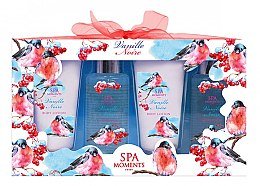 Kup Zestaw kosmetyków o zapachu czarnej wanilii - Spa Moments Vanille Noire (sh/gel 100 ml + sh/gel 100 ml + b/lot 60 ml + b/lot 60 ml)