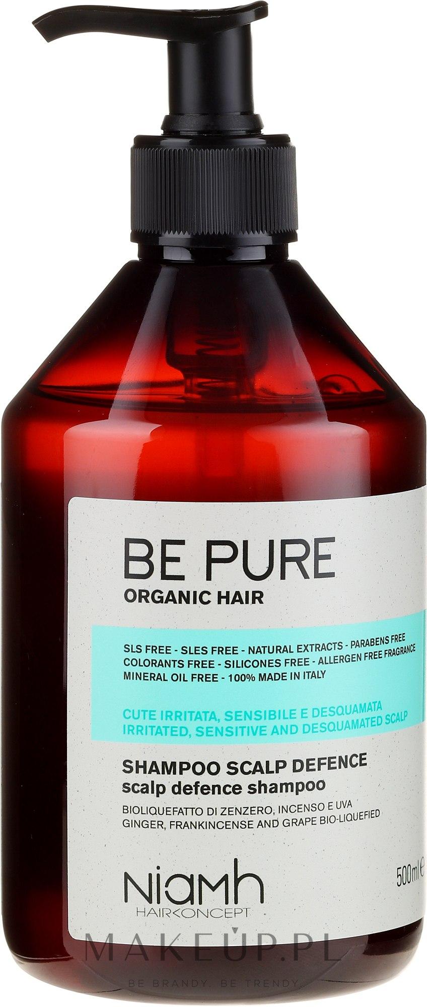 Kojący szampon do włosów - Niamh Hairconcept Be Pure Scalp Defence Shampoo — фото 500 ml