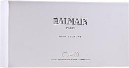 Zestaw - Balmain Paris Hair Couture Gold Brush Set Mini (h/silk/50ml + brush + mirror) — фото N1