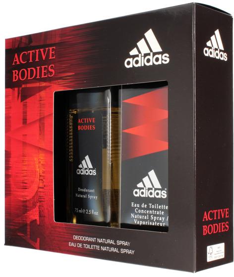 Adidas Active Bodies - Zestaw (edt 100 ml + deo 75 ml)