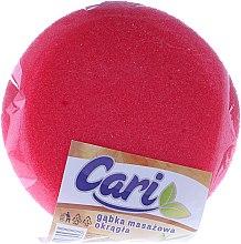 Kup Okrągła masażowa gąbka do kąpieli, 98553, różowo-biała - Cari