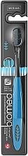 Kup Szczoteczka do zębów z węglem aktywnym, średnia twardość, czarno-niebieska - Biomed Black Medium