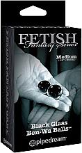 Kup Szklane kulki dopochwowe, czarne, 2 szt. - PipeDream Fetish Fantasy Series Black Glass Ben-Wa Balls
