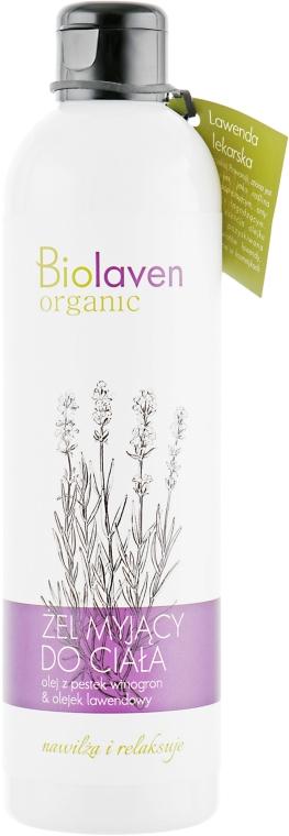 Nawilżająco-relaksujący żel myjący do ciała Olej z pestek winogron i olejek lawendowy - Biolaven Organic