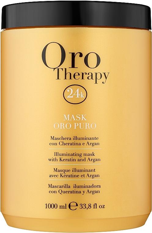 Rewitalizująca maseczka z aktywnymi drobinkami złota - Fanola Oro Therapy Oro Puro Mask