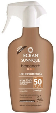 Brązujący krem ochronny w sprayu z filtrem SPF 50 - Ecran Sunnique Broncea+ Lotion  — фото N1