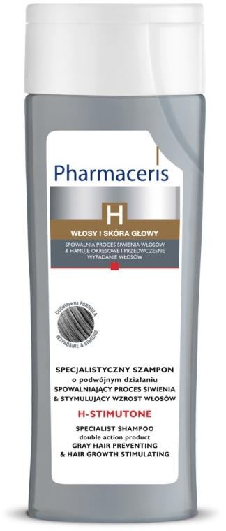 Specjalistyczny szampon do włosów - Pharmaceris H-Stimutone Specialist Shampoo Gray Hair Preventing & Hair Growth Stimulating