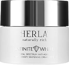 Przeciwstarzeniowy krem na dzień do twarzy wybielający przebarwienia SPF 15 - Herla Infinite White Total Spectrum Anti-Aging Day Therapy Whitening Cream — фото N2