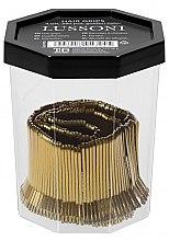 Wsuwki, 4 cm, złote - Lussoni Hair Grips Golden — фото N2