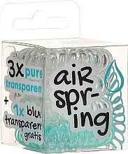 Kup Gumki do włosów, przezroczyste + turkusowe, 4 szt. - Hair Springs