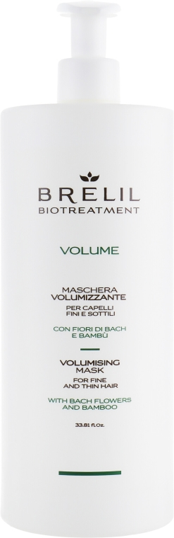 Maska dodająca objętości włosom cienkim - Brelil Bio Treatment Volume Volumising Hair Mask For Fine And Thin Hair — фото N3