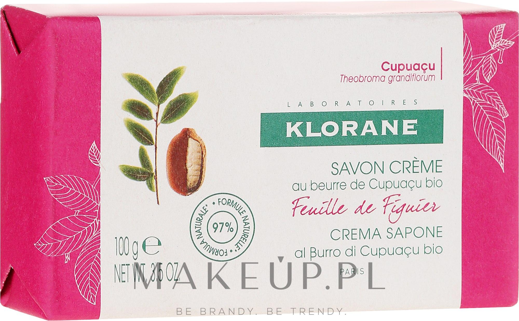 Mydło w kostce - Klorane Cupuacu Fig Leaf Cream Soap — фото 100 g