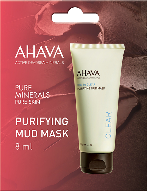 Oczyszczająca maska błotna do twarzy - Ahava Time To Clear Purifying Mud Mask (próbka) — фото N1