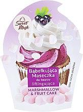Kup Liftingująca maseczka bąbelkująca do cery suchej i dojrzałej Babeczka owocowa z piankami marshmallow - Marion Sweet Mask