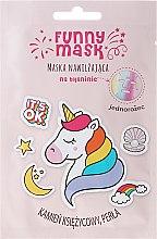 Kup Maska nawilżająca na tkaninie z kamieniem księżycowym i perłą Jednorożec - Marion Funny Mask