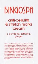 Kup Krem na cellulit i rozstępy z L-karnityną, kofeiną i imbirem - BingoSpa Cream For Cellulite (próbka)