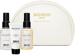 Kup Zestaw Dermalogica do twarzy - Balmain Paris Hair Couture White Cosmetic Styling Bag (h/parfum/20ml + elixir/50ml + styling/spray/50ml + bag)