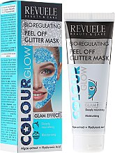 Kup Bioregulująca brokatowa maska peel-off do twarzy - Revuele Color Glow Glitter Mask Pell-Off Bio-regulating