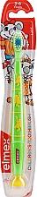 Kup Miękka szczoteczka do zębów dla dzieci 3–6 lat, zielona z małpkami - Elmex Kinder