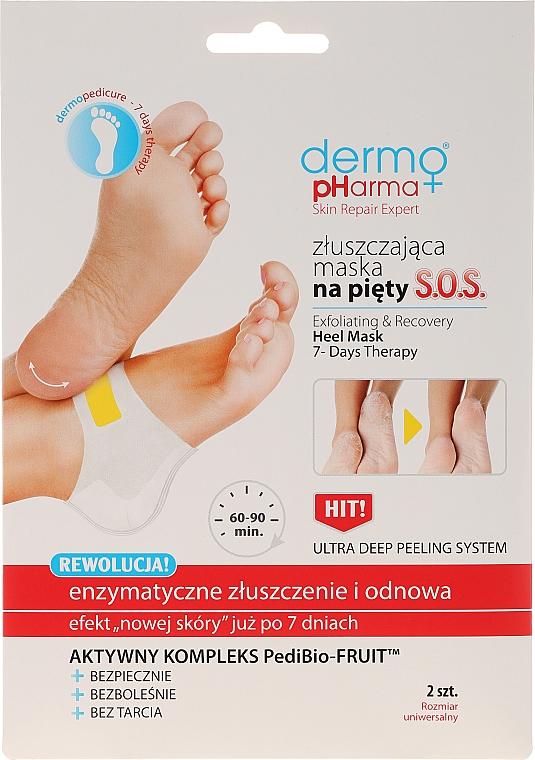 Złuszczająca maska SOS na pięty Enzymatyczne złuszczenie i odnowa - Dermo Pharma Skin Repair Expert