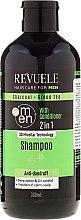 Kup Przeciwłupieżowy szampon i odżywka do włosów dla mężczyzn - Revuele Men Charcoal + Green Tea 2in1 Shampoo