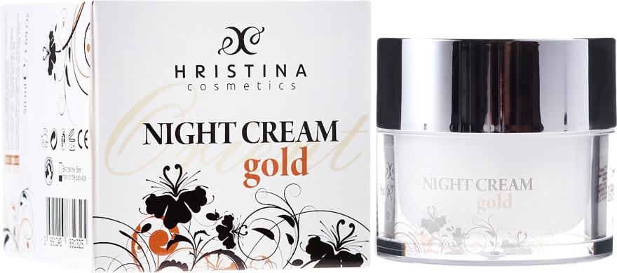 Krem do twarzy na noc ze złotem - Hristina Cosmetics Orient Gold Night Cream — фото N1