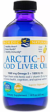 Kup Suplement diety w płynie Omega-3 i D3, smak cytrynowy, 1060 mg - Nordic Naturals Arctic-D Cod Liver Oil