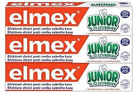 Kup Zestaw - Elmex Junior Toothpaste Set (3 x toothpaste 75 ml)