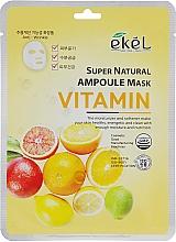 Kup Witaminowa maska na tkaninie do twarzy - Ekel Super Natural Ampoule Mask Vitamin