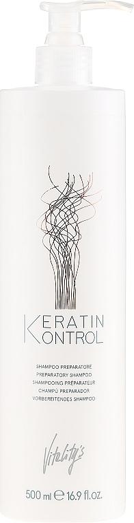 Szampon przygotowujący włosy do zabiegów - Vitality's Keratin Kontrol Preparatory Shampoo — фото N1