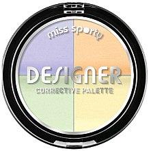 Kup Paletka kolorowych korektorów do twarzy - Miss Sporty Designer Corrective Palette