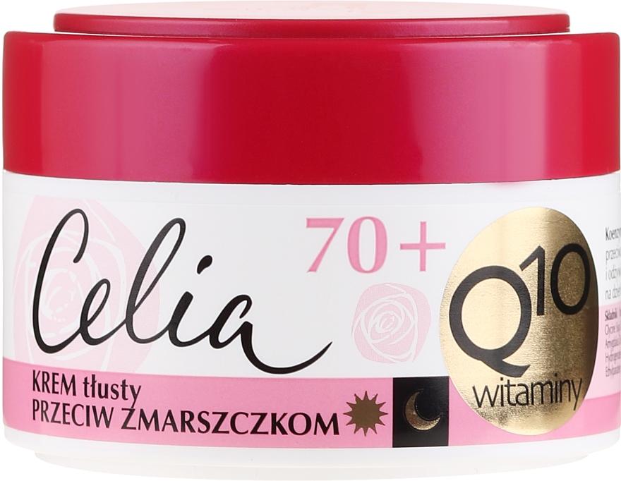 Krem tłusty przeciw zmarszczkom z enzymem Q10 70+ - Celia