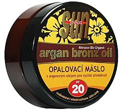 Kup Brązujące masło do opalania olejem arganowym - Vivaco Sun Argan Bronze Oil Tanning Butter SPF 20