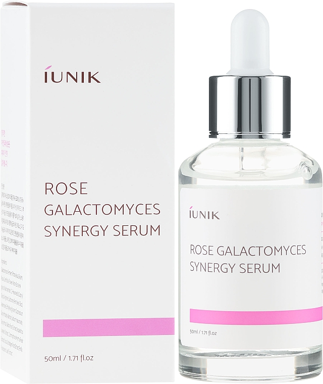 Synergiczne serum do twarzy z różą i galactomyces - iUNIK Rose Galactomyces Synergy Serum