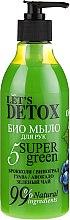 Kup Biomydło do rąk w płynie - Let's Detox 5 Super Green Soap