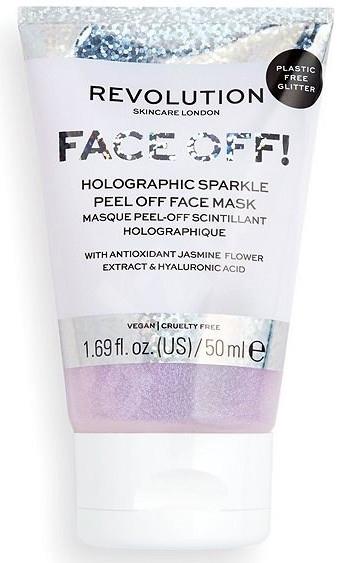 Maseczka peelingująca do twarzy - Revolution Skincare Face Off! Holographic Sparkle Peel Off Face Mask — фото N1