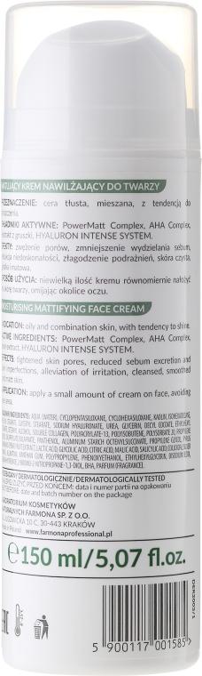 Matujący krem nawilżający do twarzy z kwasami AHA - Farmona Professional Dermaacne+ — фото N2