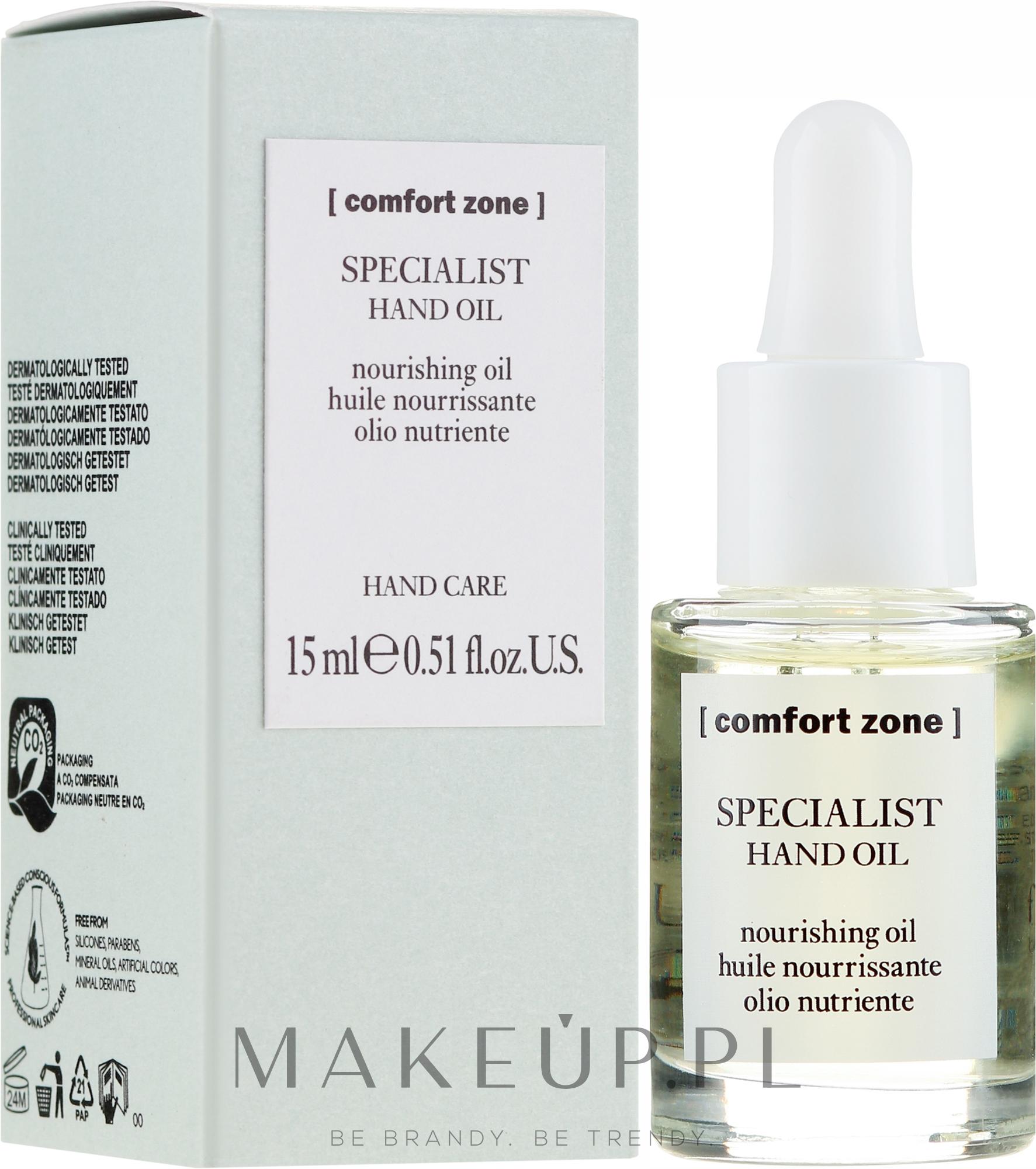 Odżywczy olejek do rąk i paznokci - Comfort Zone Specialist Hand Oil — фото 15 ml
