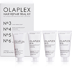 Kup Regenerujący zestaw do włosów - Olaplex Hair Repair Trial Kit (shmp 30 ml + cond 30 ml + elixir 30 ml + h/cr 30 ml)