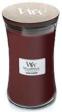 Kup Świeca zapachowa w szkle - WoodWick Hourglass Candle Black Cherry